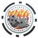 Casino Dice Svart